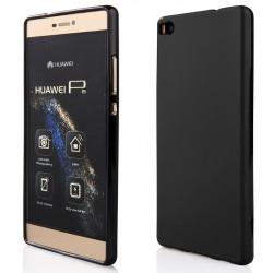 """Juodas guminis dėklas Huawei P8 telefonui """"Pudding"""""""