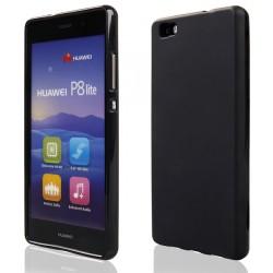 """Juodas guminis dėklas Huawei P8 Lite telefonui """"Pudding"""""""
