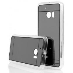 """Juodas silikoninis dėklas HTC M10 telefonui """"Mirror"""""""
