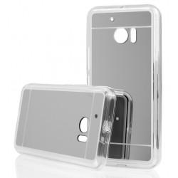 """Sidabrinės spalvos silikoninis dėklas HTC M10 telefonui """"Mirror"""""""
