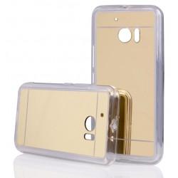 """Auksinės spalvos silikoninis dėklas HTC M10 telefonui """"Mirror"""""""