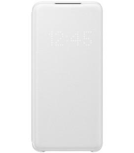 """Originalus baltas atverčiamas dėklas """"LED S-View Case"""" Samsung Galaxy S20 telefonui """"EF-NG980PWE"""""""