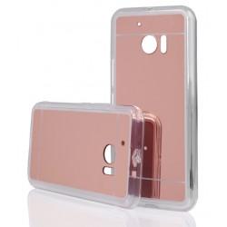 """Rausvai auksinės spalvos silikoninis dėklas HTC M10 telefonui """"Mirror"""""""