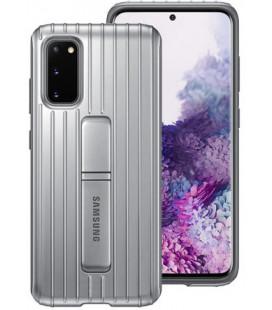 """Originalus sidabrinės spalvos dėklas """"Standing Cover"""" Samsung Galaxy S20 telefonui """"EF-RG980CSE"""""""
