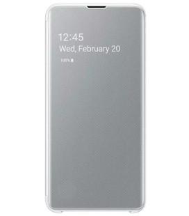 """Originalus baltas atverčiamas dėklas """"Clear View Cover"""" Samsung Galaxy S10E telefonui """"EF-ZG970CWE"""""""