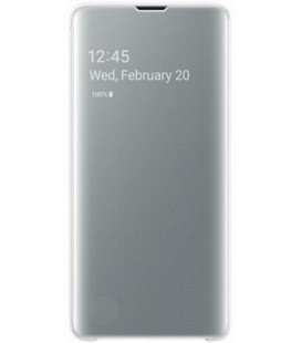 """Originalus baltas atverčiamas dėklas """"Clear View Cover"""" Samsung Galaxy S10 telefonui """"EF-ZG973CWE"""""""