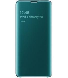 """Originalus žalias atverčiamas dėklas """"Clear View Cover"""" Samsung Galaxy S10 telefonui """"EF-ZG973CGE"""""""