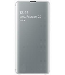 """Originalus baltas atverčiamas dėklas """"Clear View Cover"""" Samsung Galaxy S10 Plus telefonui """"EF-ZG975CWE"""""""