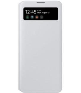 """Originalus baltas atverčiamas dėklas """"S-View Case"""" Samsung Galaxy A71 telefonui """"EF-EA715PWE"""""""