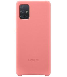 """Originalus rožinis dėklas """"Silicone Cover"""" Samsung Galaxy A71 telefonui """"EF-PA715TPE"""""""