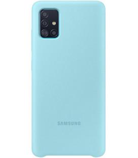 "Originalus mėlynas dėklas ""Silicone Cover"" Samsung Galaxy A51 telefonui ""EF-PA515TLE"""