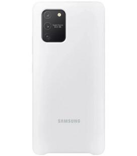 """Originalus baltas dėklas """"Silicone Cover"""" Samsung Galaxy S10 Lite telefonui """"EF-PG770TWE"""""""