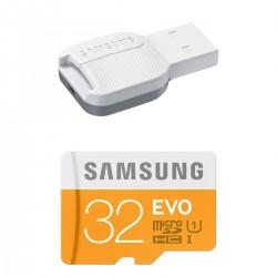 Atminties kortelė MicroSD Samsung EVO 32GB su USB adapteriu SDHC Class 10 mb-mp32dc/eu