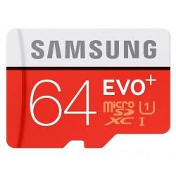 Atminties kortelė MicroSD Samsung EVO+ 64GB su SD adapteriu SDXC Class 10