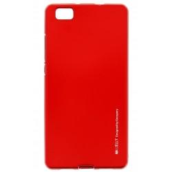 """Raudonas Silikoninis dėklas Huawei P8 Lite telefonui """"Mercury iJelly Case Metal"""""""