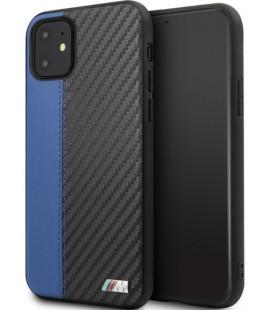 "Mėlynas dėklas Apple iPhone 11 telefonui ""BMHCN61MCARBL BMW Carbon Stripe"""