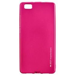 """Rožinis silikoninis dėklas Huawei P8 Lite telefonui """"Mercury iJelly Case Metal"""""""