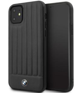"""Juodas dėklas Apple iPhone 11 telefonui """"BMHCN61POCBK BMW Real Leather"""""""