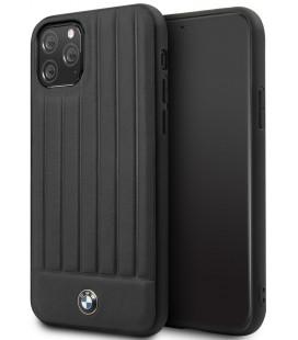"""Juodas dėklas Apple iPhone 11 Pro telefonui """"BMHCN58POCBK BMW Real Leather"""""""