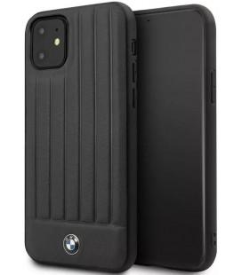 "Juodas dėklas Apple iPhone 11 Pro Max telefonui ""BMHCN65POCBK BMW Real Leather"""