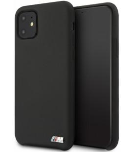 """Juodas dėklas Apple iPhone 11 telefonui """"BMHCN61MSILBK BMW M Silicon"""""""