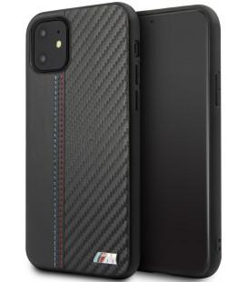 """Juodas dėklas Apple iPhone 11 telefonui """"BMHCN61MCARBK BMW Carbon Strip"""""""