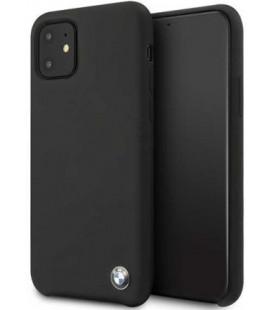 """Juodas dėklas Apple iPhone 11 telefonui """"BMHCN61SILBK BMW Signature Silicone"""""""