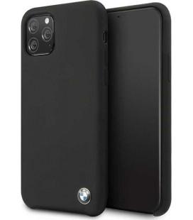 """Juodas dėklas Apple iPhone 11 Pro Max telefonui """"BMHCN65SILBK BMW Signature Silicone"""""""