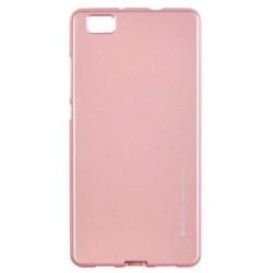 """Rausvai auksinės spalvos silikoninis dėklas Huawei P8 Lite telefonui """"Mercury iJelly Case Metal"""""""