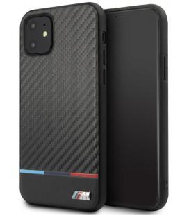 "Juodas dėklas Apple iPhone 11 telefonui ""BMHCN61PUCARTCBK BMW M Carbon Tricolore Cover"""