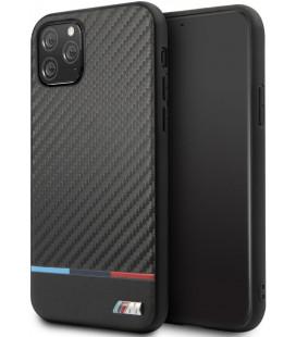 "Juodas dėklas Apple iPhone 11 Pro telefonui ""BMHCN58PUCARTCBK BMW M Carbon Tricolore Cover"""