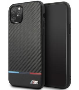 "Juodas dėklas Apple iPhone 11 Pro Max telefonui ""BMHCN65PUCARTCBK BMW M Carbon Tricolore Cover"""