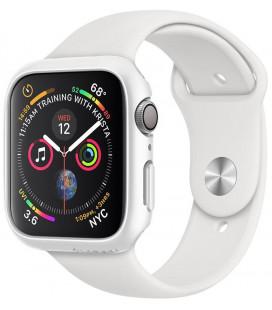 """Baltas dėklas Apple Watch 4/5 (40mm) laikrodžiui """"Spigen Thin Fit"""""""
