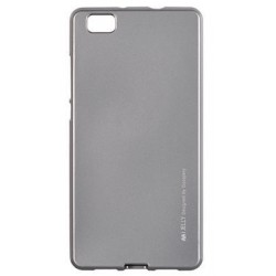 """Pilkas silikoninis dėklas Huawei P8 Lite telefonui """"Mercury iJelly Case Metal"""""""