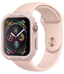 """Rausvai auksinės spalvos dėklas Apple Watch 4/5 (40mm) laikrodžiui """"Spigen Rugged Armor"""""""