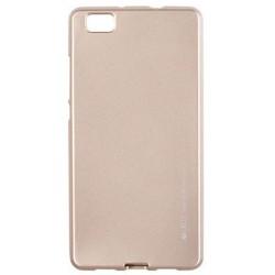 """Auksinės spalvos silikoninis dėklas Huawei P8 Lite telefonui """"Mercury iJelly Case Metal"""""""