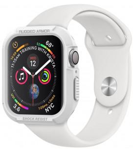 """Baltas dėklas Apple Watch 4/5 (40mm) laikrodžiui """"Spigen Rugged Armor"""""""