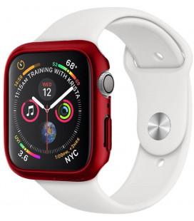 "Raudonas dėklas Apple Watch 4/5 (40mm) laikrodžiui ""Spigen Thin Fit"""