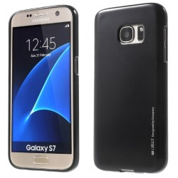 """Juodas silikoninis dėklas Samsung Galaxy S7 telefonui """"Mercury iJelly Case Metal"""""""