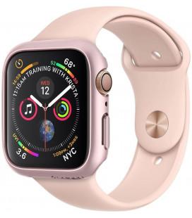 """Rausvai auksinės spalvos dėklas Apple Watch 4/5 (40mm) laikrodžiui """"Spigen Thin Fit"""""""