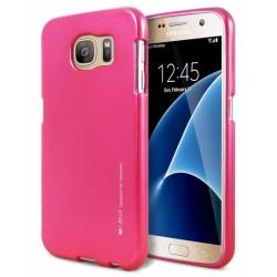 """Rožinis silikoninis dėklas Samsung Galaxy S7 telefonui """"Mercury iJelly Case Metal"""""""