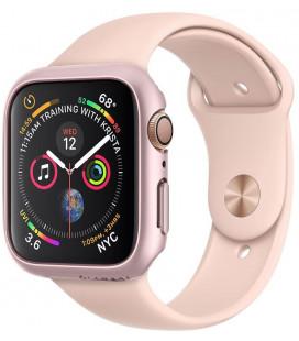 """Rausvai auksinės spalvos dėklas Apple Watch 4/5/6/SE (44mm) laikrodžiui """"Spigen Thin Fit"""""""