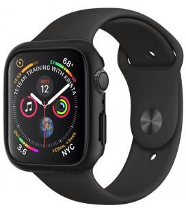 "Juodas dėklas Apple Watch 4/5/6/SE (44mm) laikrodžiui ""Spigen Thin Fit"""