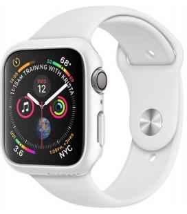 """Baltas dėklas Apple Watch 4/5 (44mm) laikrodžiui """"Spigen Thin Fit"""""""