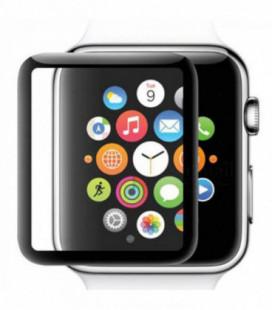 LCD apsauginis stikliukas 5D Full Glue Apple Watch 42mm juodas