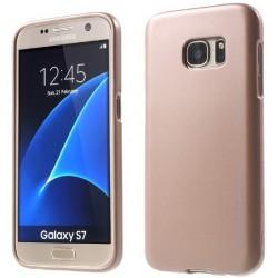 """Auksinės spalvos silikoninis dėklas Samsung Galaxy S7 G930 telefonui """"Mercury iJelly Case Metal"""""""