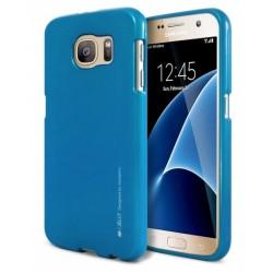 """Mėlynas silikoninis dėklas Samsung Galaxy S7 G930 telefonui """"Mercury iJelly Case Metal"""""""
