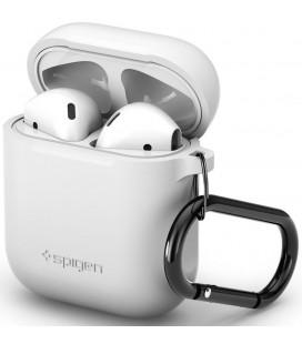 """Baltas dėklas Apple Airpods ausinėms """"Spigen Silicone Case"""""""