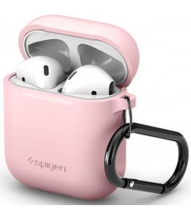 "Rožinis dėklas Apple Airpods ausinėms ""Spigen Silicone Case"""