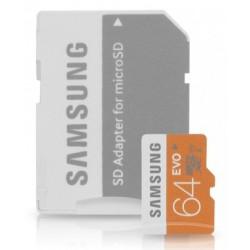 Atminties kortelė MicroSD Samsung EVO 64GB su adapteriu SDXC Class 10 mb-mp64d